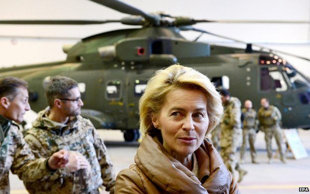 German Defence Minister Ursula von der Leyen in the north Afghan city of Mazar-e-Sharif, 13 December
