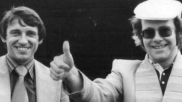 Graham Taylor and Elton John