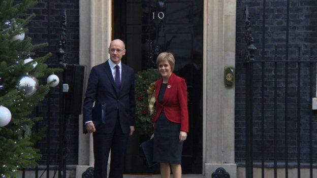 John Swinney and Nicola Sturgeon at Downing Street