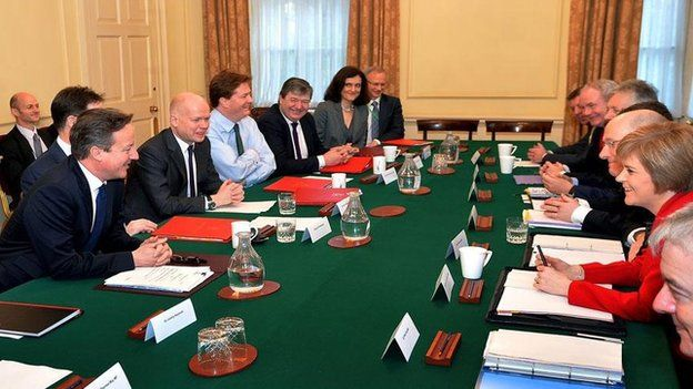 David Cameron and Nicola Sturgeon met at Downing Street for the Joint Ministerial Committee