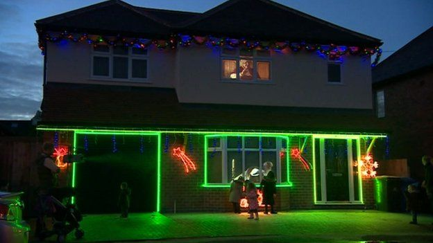 carl holdsworths house in derby - Holographic Christmas Decorations