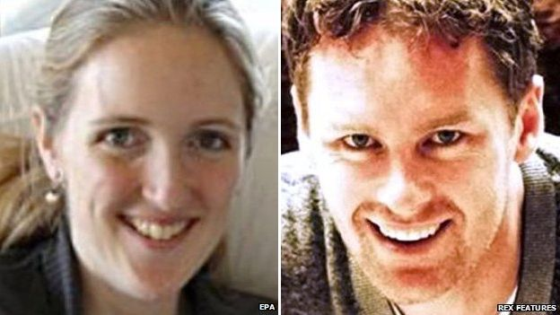 Composite image showing Sydney siege victims Katrina Dawson (left) and Tori Johnson