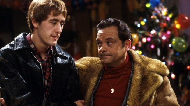 Nicholas Lyndhurst as Rodney Trotter and David Jason as Del Boy Trotter in Only  Fools and Image caption Only Fools and Horses ran Christmas specials ... - Making A Christmas Special 'special' - BBC News