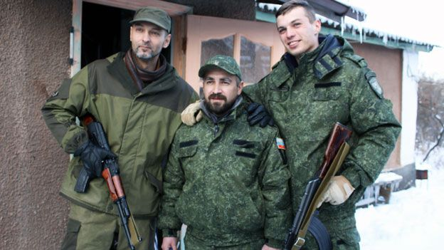 Pavel Rasta and other members of his unit on patrol