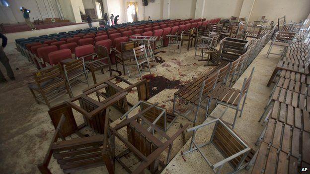 Auditorium at Peshawar school following massacre