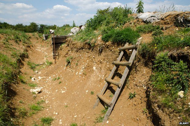 World War One trench in Artois