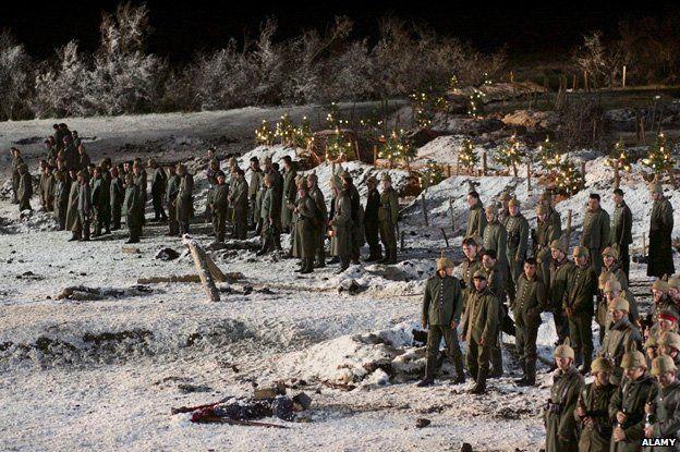 Scene from the film Joyeux Noel