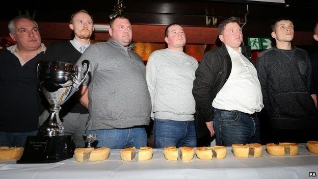 Competitors in the World Pie Eating Championships