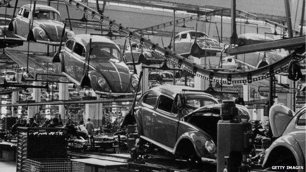 VW Beetle factory 1956