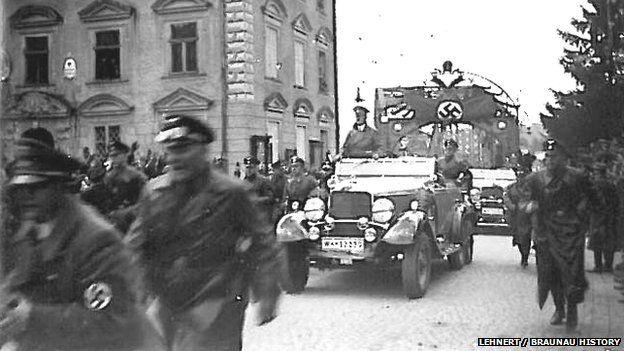 Hitler in Braunau, 1938