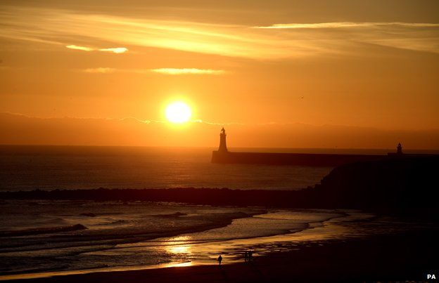 Winter sunrise over Tynemouth