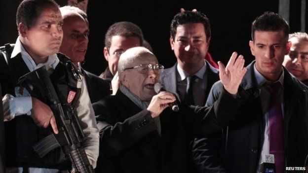 Tunisia's Beji Caid Essebsi declares victory in presidential elections
