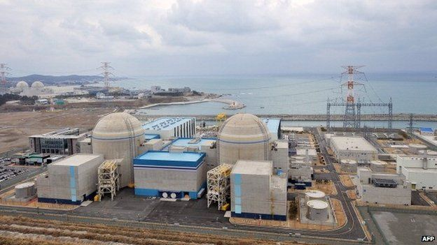 This photo taken on February 5, 2013 shows South Korea's nuclear power reactor, Shin-Kori 1 and 2 called APR-1000, in Gori