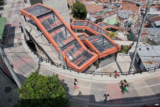 Medellin's covered escalators