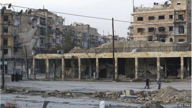 Aleppo's Bab al-Hadeed district, 10 December 2014
