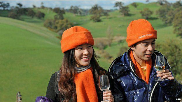 Chinese distributors sampling Australian wine, Barossa valley