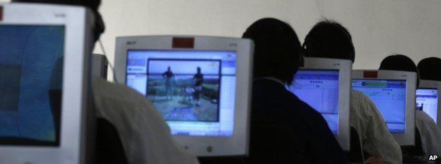 North Korean computer students in Pyongyang, 20 September 2012