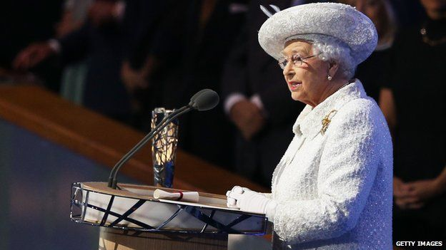 The Queen at the Commonwealth Games opening ceremony