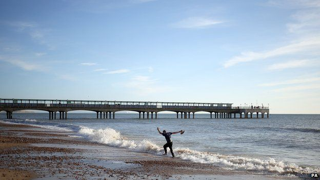 Boscombe beach in Bournemouth