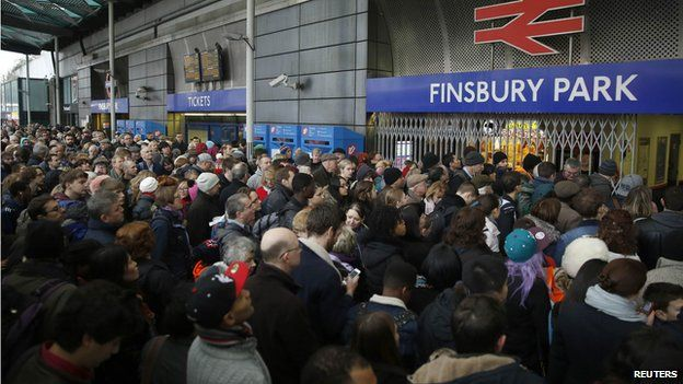 Crowds at Finsbury Park