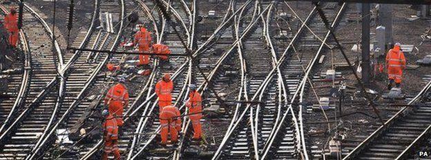 Engineers on tracks