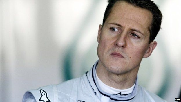"A photo taken on February 3, 2010 shows Mercedes"" German driver Michael Schumacher during a training session at the Ricardo Tormo racetrack in Cheste, near Valencia"