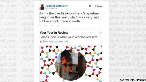 Facebook post of house on fire