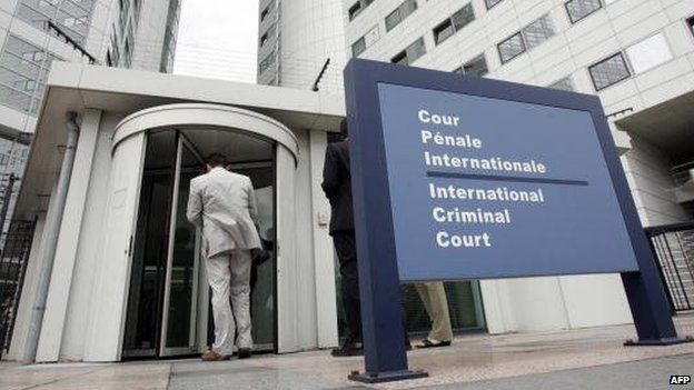 The exterior of the International Criminal Court