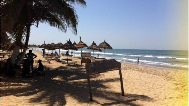A beach in the Gambia (December 2014)