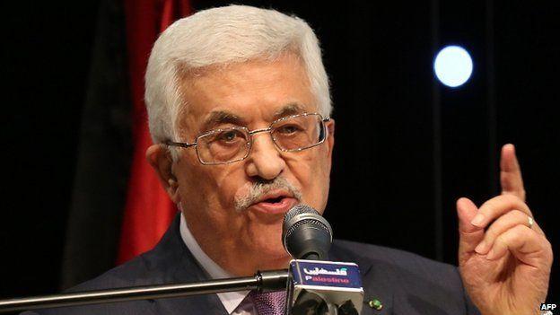 Palestinian Authority President Mahmoud Abbas. 4 Jan 2015