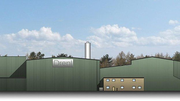 Artist's impression of the gassification plant in Corby