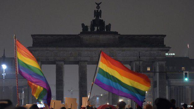Anti-Pegida marchers in Berlin