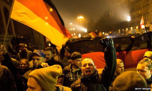 Pro-Pegida march in Berlin