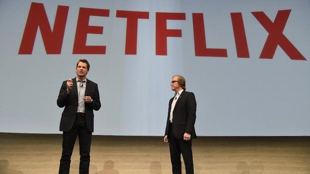 Netflix executives on stage