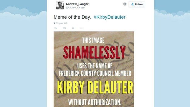 Andrew Langer tweets about Kirby Delauter.