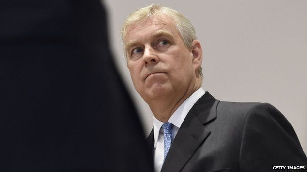 Prince Andrew, photographed in 2014