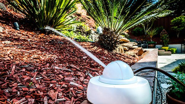 The state-of-the-art robotic sprinkler understands each plant and disperses the proper amount of water to ensure even and efficient watering