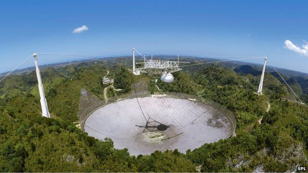 The pulsar was first spotted with the Arecibo radio telescope in Puerto Rico