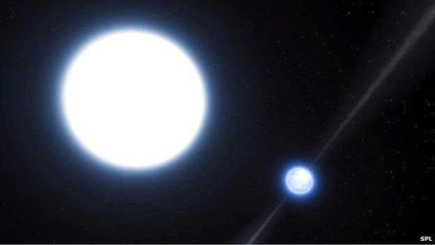 Artist's impression of the binary system