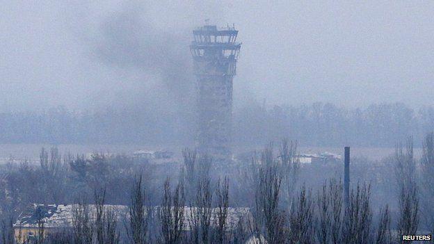 Tower at Donetsk airport. 12 Nov 2015