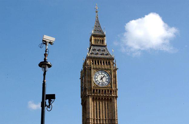 CCTV camera next to Big Ben