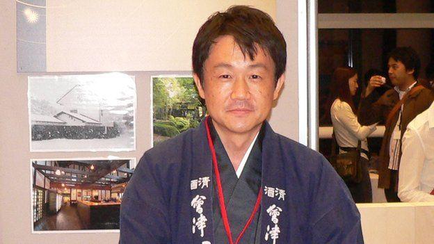 Hiroyuki Karahashi at a sake tasting event in Tokyo