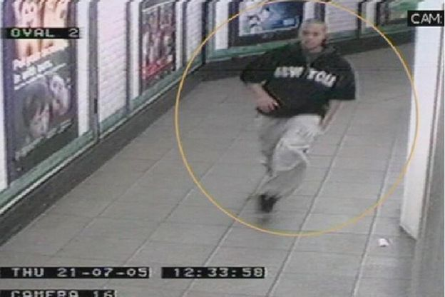 Ramzi Mohammed flees Oval station after attempting to set off a bomb on the Northern Line