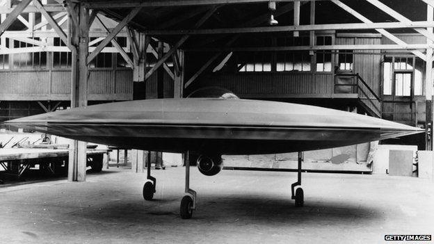 Model of Couzinet 'flying saucer'