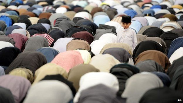 Muslims gather for Friday prayers