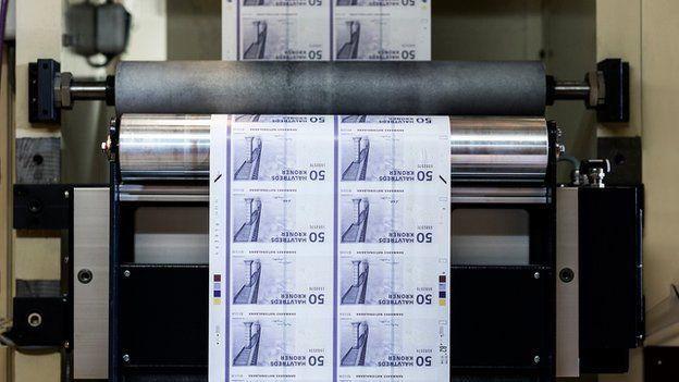 Krone note printing press