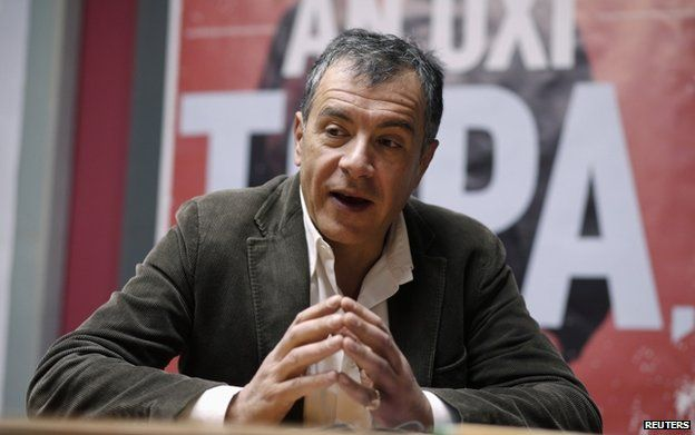 Leader of To Potami (The River) party Stavros Theodorakis in Athens 8 January 2015
