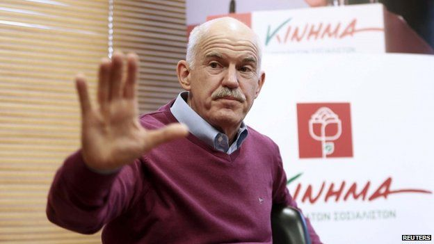 Former Greek Prime Minister and leader of the newly-formed Movement of Democratic Socialists, George Papandreou