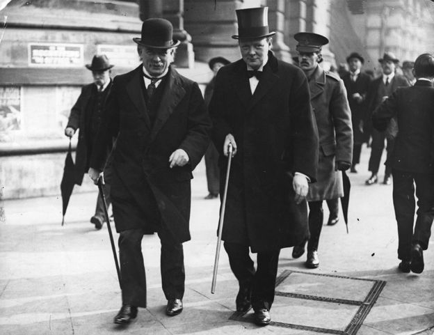 David Lloyd George and Winston Churchill