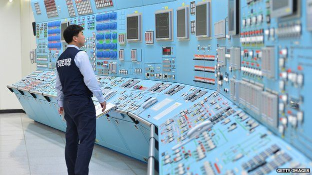 In this handout provided by the Korea Hydro and Nuclear Power Co., Workers of the Korea Hydro and Nuclear Power Co. participate in anti cyber attack exercise at Wolsong power plant on December 22, 2014 in Gyeongju, South Korea.